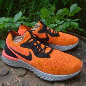 Nike Epic React Flyknit 2 Orange Shoes 12.5 Men
